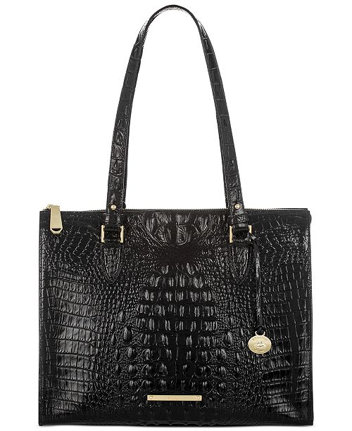 Melbourne Anywhere Embossed Leather Tote, Created for Macy's