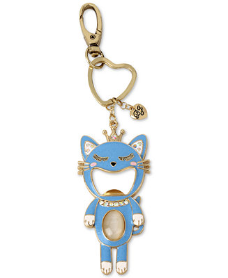 betsey johnson gold tone blue cat bottle opener keychain jewelry watches macy 39 s. Black Bedroom Furniture Sets. Home Design Ideas
