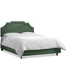 Grant California King Upholstered Border Bed, Quick Ship