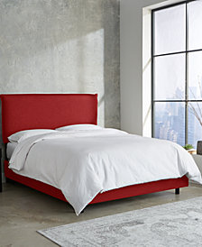 Henwood French Seam Bed and Headboard Collection, Quick Ship