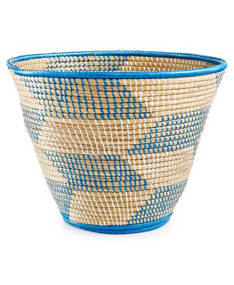 Rwanda Raffia and Sweet Grass Magazine Basket