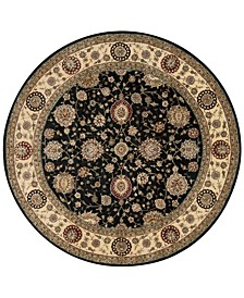 Wool and Silk 2000 2204 8' Round Rug