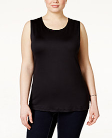 Alfani Plus Size Sleeveless Layering Tank, Created for Macy's