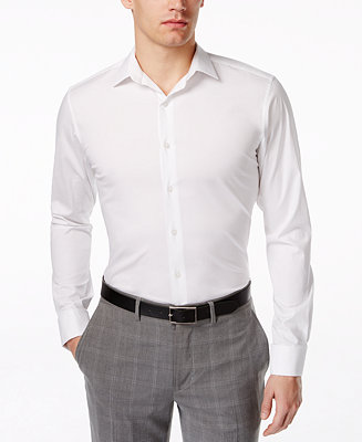 Alfani spectrum slim fit french cuff dress shirt dress for Men french cuff dress shirts
