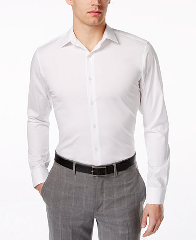 Alfani Spectrum Slim-Fit French Cuff Dress Shirt - Dress Shirts ...