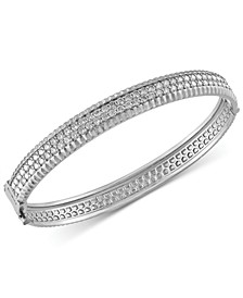 Trio By EFFY® Diamond Bangle Bracelet (2-1/6 ct. t.w.) in 14k White, Yellow and Rose Gold