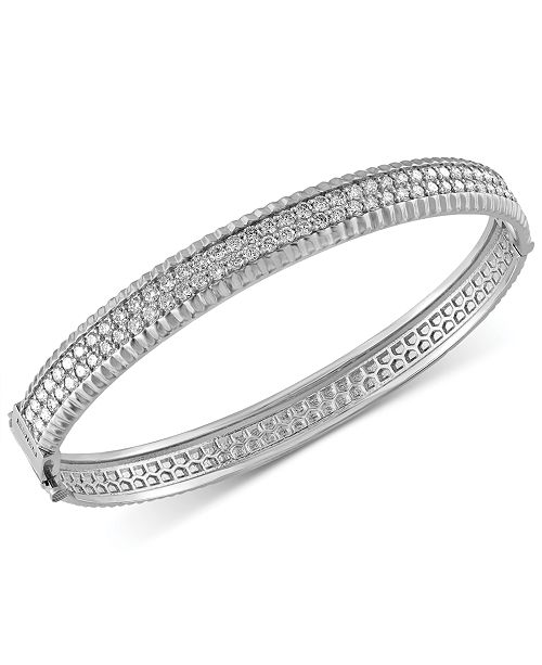 EFFY Collection Trio By EFFY Diamond Bangle Bracelet (2-1/6 ct. t.w.) in 14k White, Yellow and Rose Gold