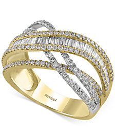 Duo by EFFY Diamond Ring (1-3/8 ct. t.w.) in 14k Gold and White Gold