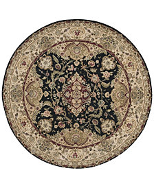 Nourison Round Area Rug, Wool & Silk 2000 2028 Black 6'