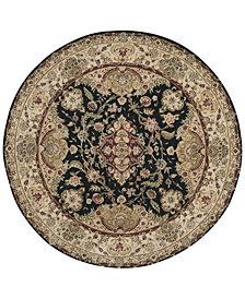 Nourison Round Area Rug, Wool & Silk 2000 2028 Black 6'