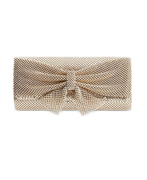 Style & Co Mesh Bow Clutch, Created for Macy's