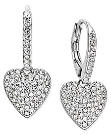 Pavé Heart Drop Earrings, Created for Macy's