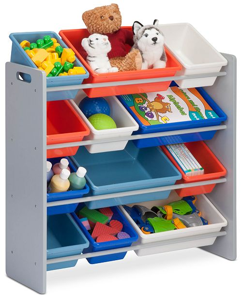 Honey Can Do Kids Toy Room Organizer With Totes 12 Bins