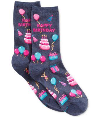Hot Sox Women/'s Happy Birthday Socks