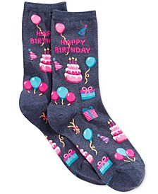 Women's Happy Birthday Fashion Crew Socks