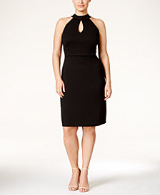 Love Squared Plus Size Halter Cutout A-Line Dress