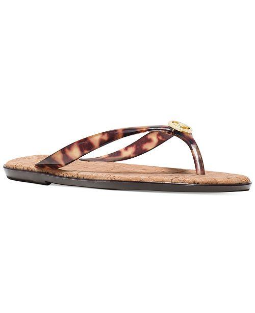 dc201623eb6f Michael Kors MK Jet Set Jelly Flat Sandals   Reviews - Shoes - Macy s