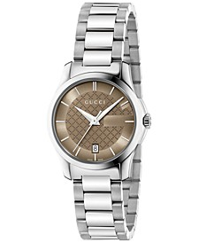 Women's Swiss G-Timeless Stainless Steel Bracelet Watch 27mm YA126526