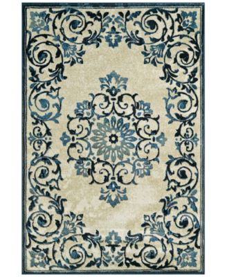 "CLOSEOUT! Menagerie MEN185 Ivory 4'11"" x 7'5"" Area Rug"