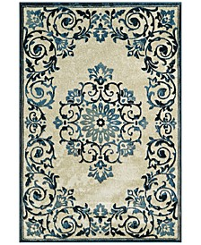 """CLOSEOUT! Menagerie MEN185 Ivory 3'3"""" x 5'1"""" Area Rug"""