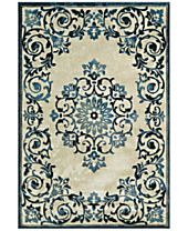 CLOSEOUT! D Style Menagerie MEN185 Ivory Area Rugs