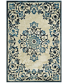 "CLOSEOUT! D Style Menagerie MEN185 Ivory 3'3"" x 5'1"" Area Rug"