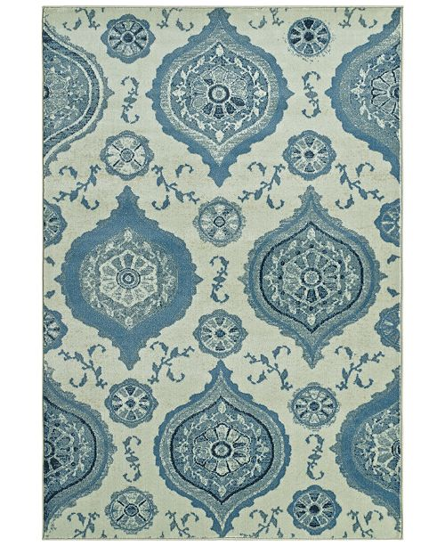"D Style CLOSEOUT! Menagerie MEN1548 Ivory 3'3"" x 5'1"" Area Rug"