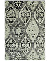 CLOSEOUT! D Style Menagerie MEN8444 Stone Area Rugs