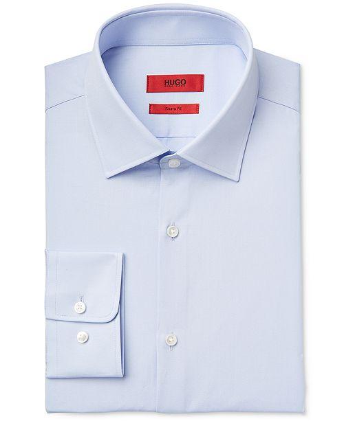 Hugo Boss HUGO Men's Slim-Fit/Sharp-Fit Solid Dress Shirt