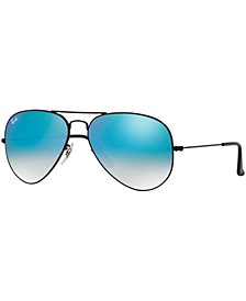 Sunglasses, RB3025 AVIATOR FLASH LENSES GRADIENT