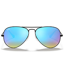 Ray-Ban ORIGINAL AVIATOR GRADIENT MIRRORED Sunglasses, RB3025 58
