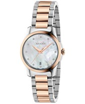 8a00d9c9fcd Gucci Women s Swiss G-Timeless Diamond Accent Two-Tone PVD Stainless Steel Bracelet  Watch