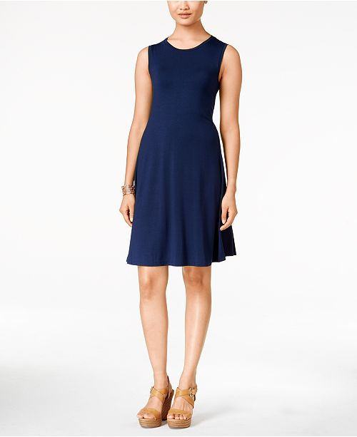 Style & Co Petite Sleeveless Swing Dress, Created for Macy