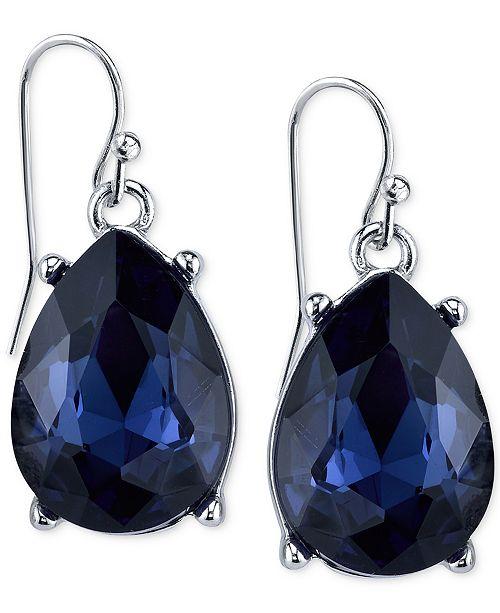 2028 Silver-Tone Blue Teardrop Earrings, Created for Macy's