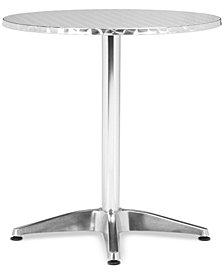 Torban Outdoor Round Aluminum Table, Quick Ship