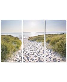 Beach Walk Canvas, Set of 3