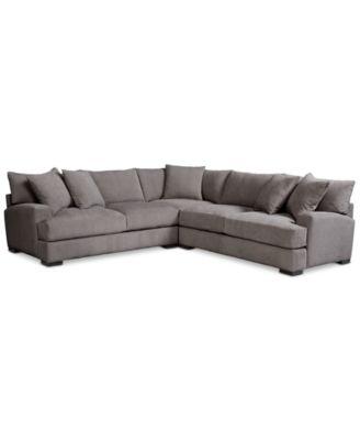 Rhyder 3 Pc. U0027Lu0027 Shaped Fabric Sectional, Created For Macyu0027s. Furniture