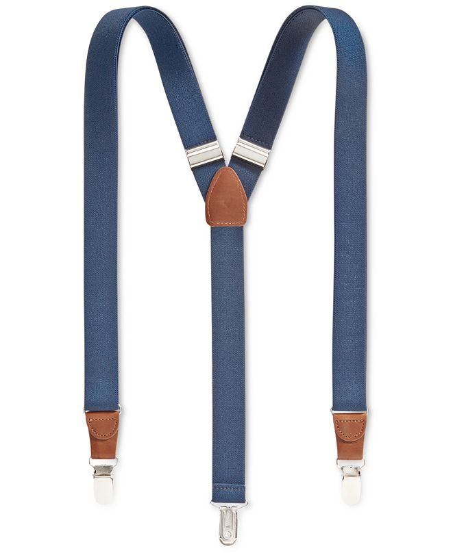 Club Room Men's Solid Suspenders, Created for Macy's""