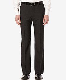 Perry Ellis Men's Mini-Check Flat Front Classic-Fit Dress Pants
