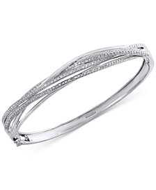 Pavé Classica by EFFY Diamond Bangle (1 ct. t.w.) in 14k White Gold