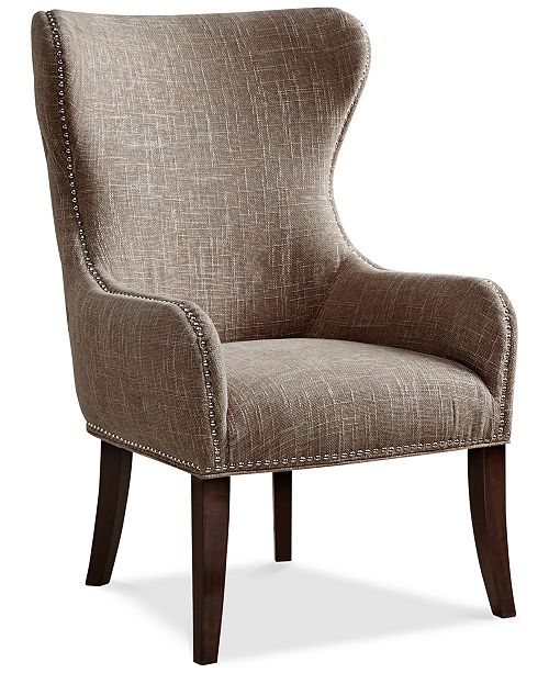 Furniture Jerry Button Tufted Accent Chair, Quick Ship