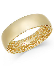 The Fifth Season by Roberto Coin 18k Gold-Plated Sterling Silver Bangle Bracelet 7771323SYBA0
