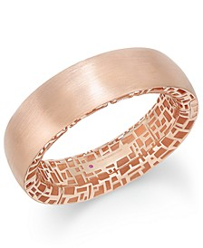 18k Rose Gold-Plated Sterling Silver Bangle Bracelet 7771165SXBA0