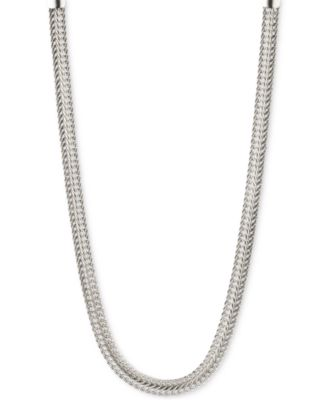 Image of Anne Klein Silver-Tone Flat Chain Necklace