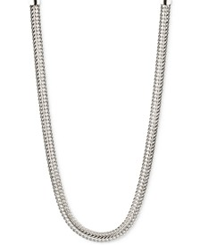 Silver-Tone Flat Chain Necklace