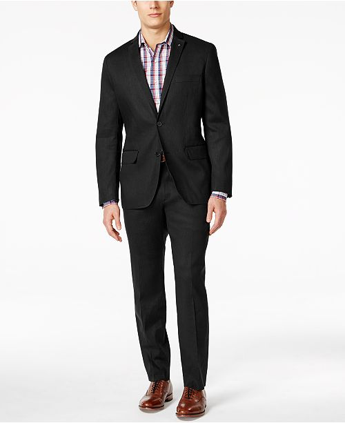 INC International Concepts  I.N.C. Men's Stretch Slim Fit Linen Suit Separates, Created for Macy's