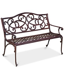 Balter Cast Outdoor Bench, Quick Ship
