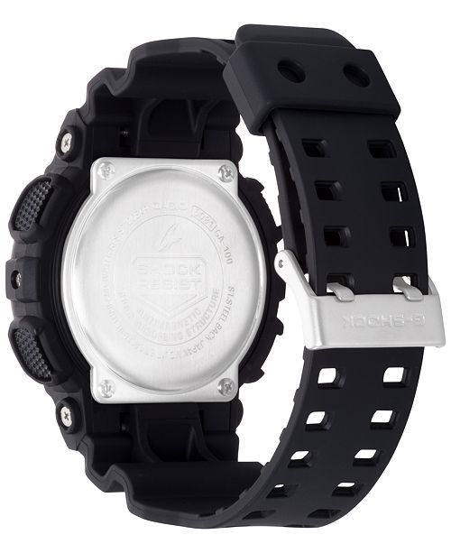 00be1617a106 G-Shock Men s Black Resin Strap Round 55mm Watch GA100-1A1   Reviews ...