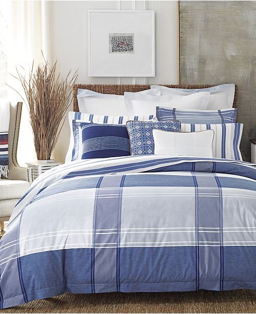 3165056af Give your room a classic, preppy look with the clean lines of the Lambert's  Cove Duvet and Comforter Sets from Tommy Hilfiger, crafted from soft cotton  and ...