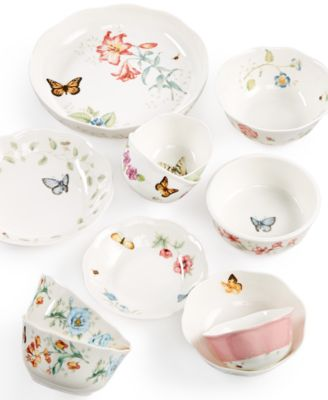 This item is part of the Lenox Butterfly Meadow Bowls Collection  sc 1 st  Macy\u0027s & Lenox Dinnerware Set of 4 Butterfly Meadow Blue Assorted Bowls ...